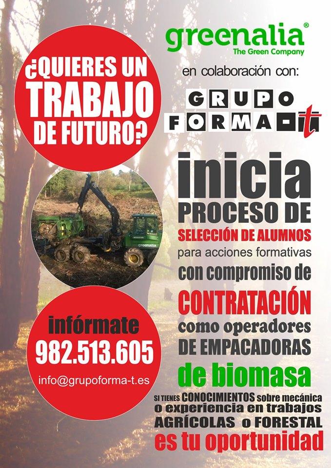 Cursos Empacadora, Autocargador y Procesadora forestal en Galicia