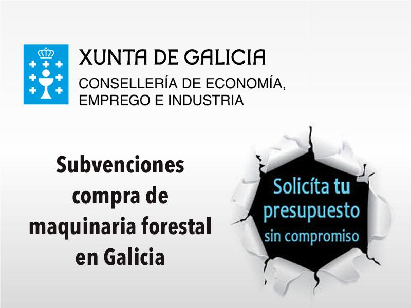 Subvenciones compra maquinaria forestal