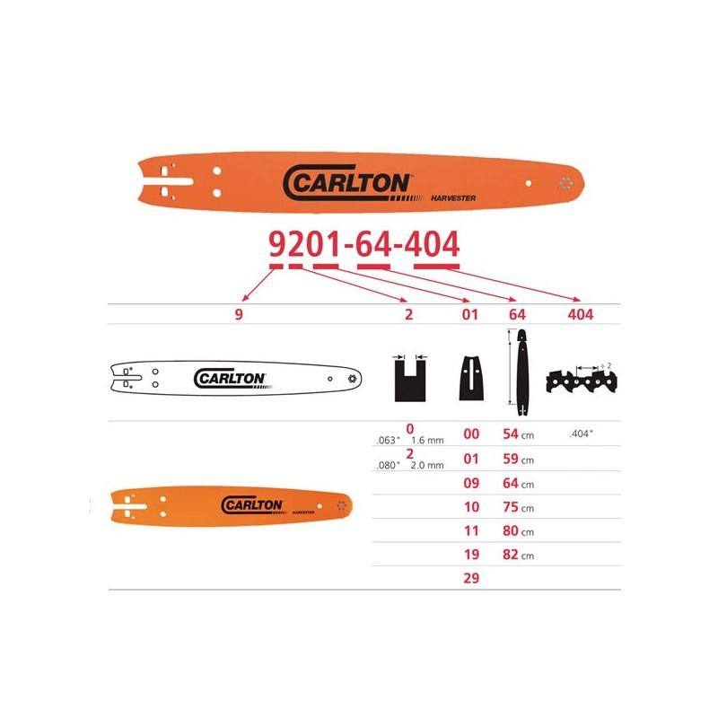 Espadin Carlton 75cm, piñon 11-13  equivalente (Oregon752HSFL104)