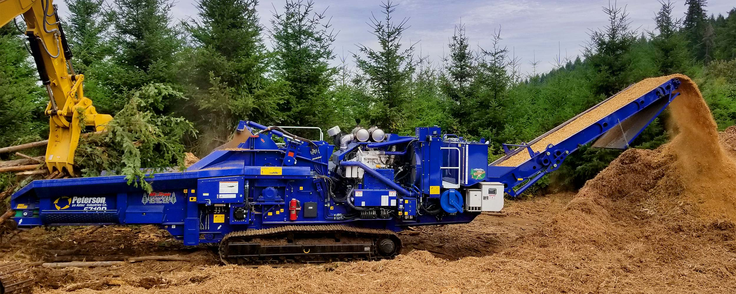 Peterson-5710D-HorizontalGrinder-Forestry-Slash-Limbs-WoodWaste